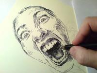 pohled na kresbu - ještě mně kousni a....
