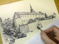 Pohled na kresbu - Moravské Budějovice