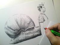 Chlapošnek - perokresba