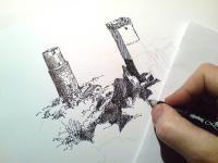 Starý hrad - kresba