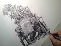 Hračka značky Tatra - kresba