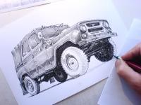 UAZ-469 - kresba