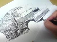 Praga V3S - kresba