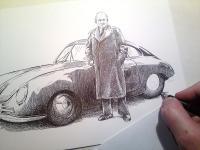 Ferdinand Porsche a Porsche 356