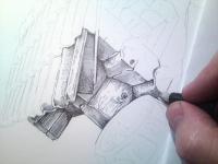 Šrafování prvků - trámy boudy