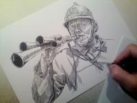 hasič - perokresba
