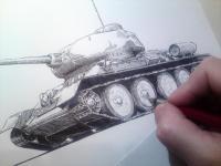 T34 - perokresba tanku