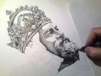 Karel IV - perokresba