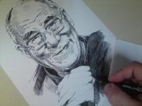 Dalajláma - perokresba