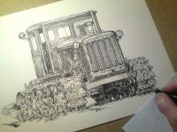Pásový zemědělský traktor DT-54