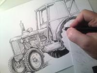 Zetor 50 Super - kresba
