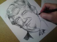 Donald Trump - perokresba