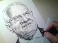 Václav Klaus - perokresba