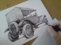 Tatra 12 pheatton 1927 - perokresba