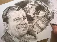 Jurij Gagarin - perokresba