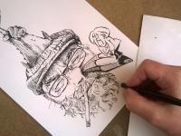 Josef Prchal - karikatura