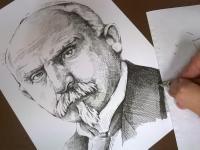 Alois Rašín - perokresba