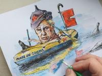 Miloš Zeman - člun