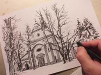 Chrám sv. Jiljí - perokresba