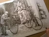 Benz Patent Motorwagen - perokresba