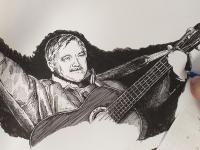 Karel Kryl - perokresba