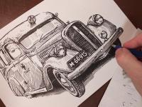 Škoda Favorit 904 - perokresba
