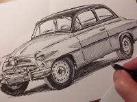 Škoda 440 Spartak - perokresba
