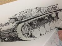 Sturmgeschütz III - perokresba