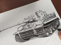 Tank Tiger - perokresba