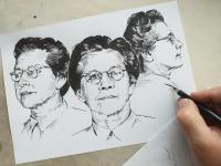 Milada Horáková - perokresba