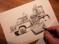 Tatra 148 UDS 6x6 - perokresba