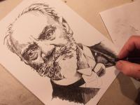Antonín Dvořák - perokresba