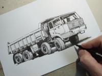 Tatra 813 - perokresba