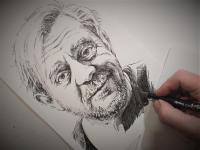 Petr Čtvrtníček - perokresba