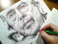 Václav Havel - finále kresby