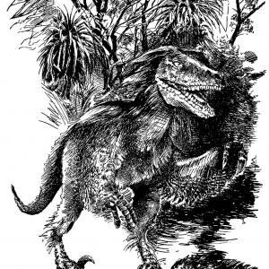 velociraptor - kresba