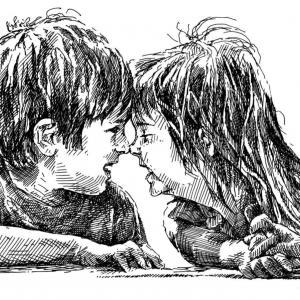 dva předškoláci - kresba