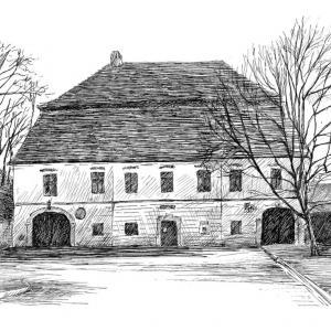 Perokresba mlýna v Obci Rybníky u Moravského Krumlova