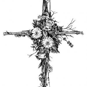 Smuteční kříž, parte
