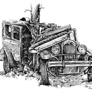 old car wrecks