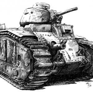 Tank Renault B-1 z roku 1921
