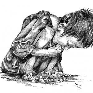 Hladovějící dítě