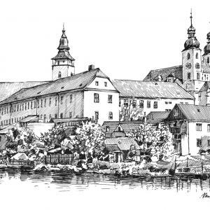 Telč - náměstí Zachariáše z Hradce