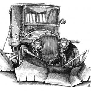 Opel - sněhový pluh