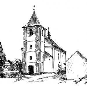 Hartvíkovice - Kostel Sv. Jiljí