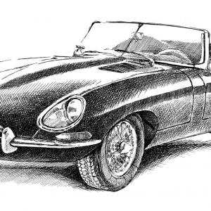 Jaguar E-Type Coupe rok 1961-1965