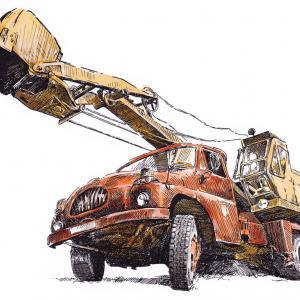 Tatra 138 - autorýpadlo D-032a