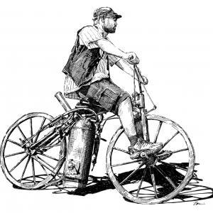 Parní motocykl - Sylvester H. Roper - 186