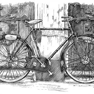 Velociped: porteur Peugeot 1954