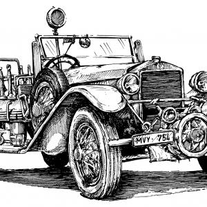 Tatra 17 - hasičské auto